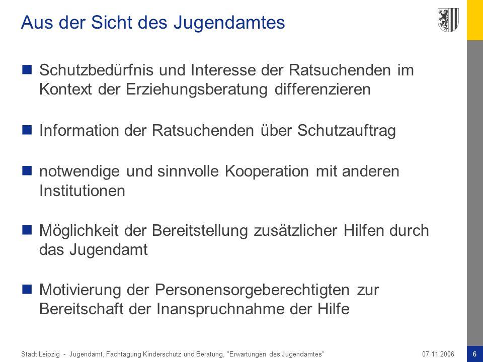 Stadt Leipzig -6Jugendamt, Fachtagung Kinderschutz und Beratung,