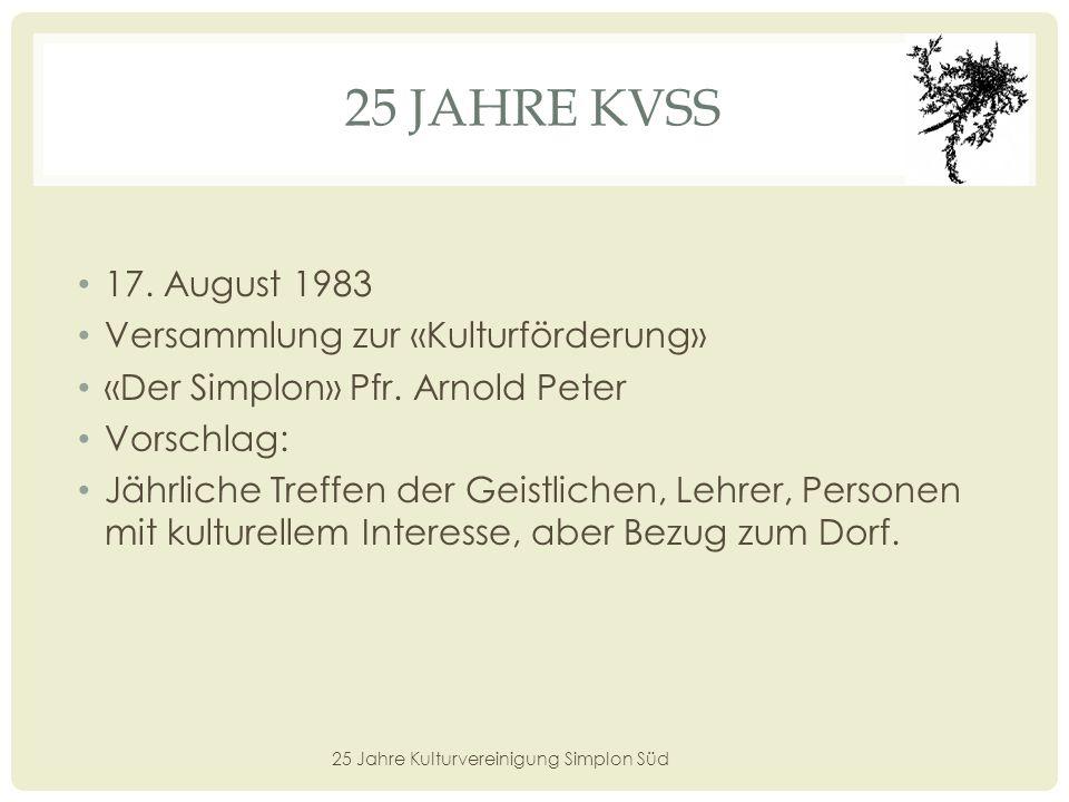 25 JAHRE KVSS 16.
