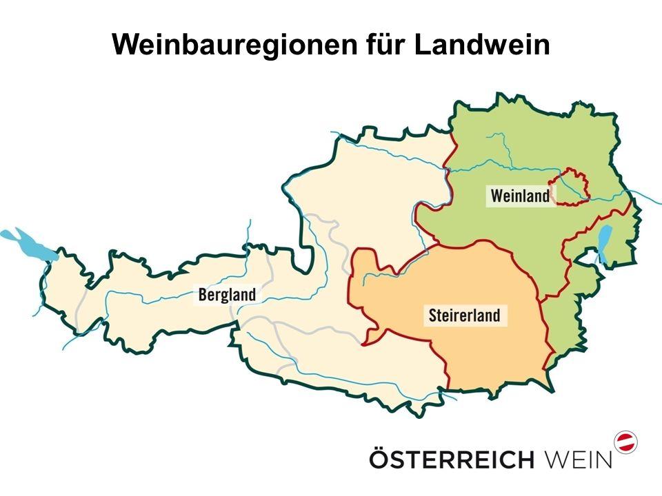 Weinbauregionen für Landwein