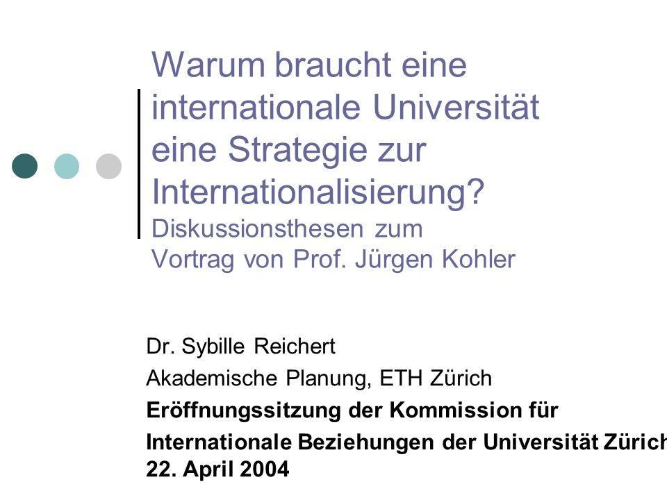 Warum braucht eine internationale Universität eine Strategie zur Internationalisierung.