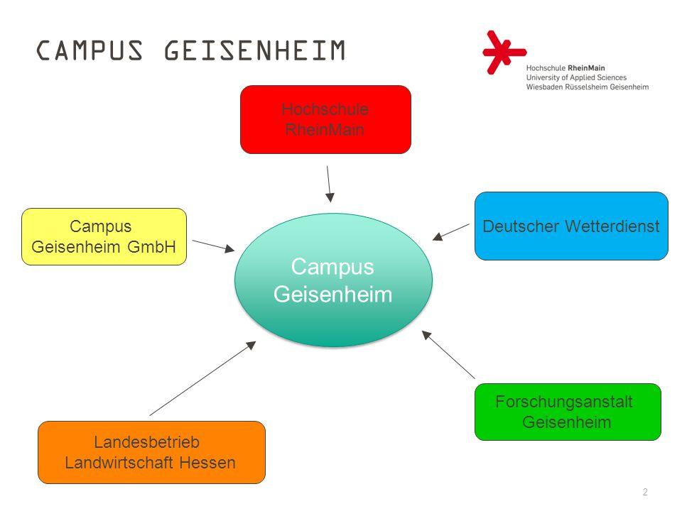 2 Forschungsanstalt Geisenheim Landesbetrieb Landwirtschaft Hessen Campus Geisenheim GmbH Deutscher Wetterdienst Hochschule RheinMain Campus Geisenhei