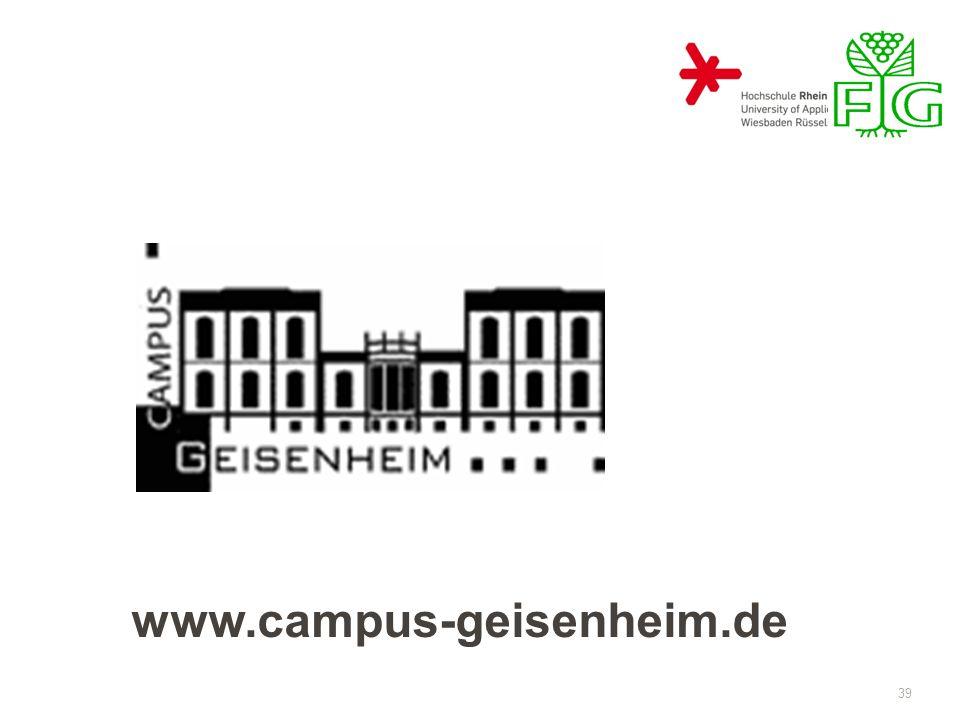 39 www.campus-geisenheim.de