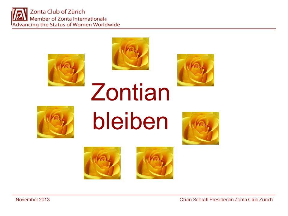 November 2013 Chan Schrafl Presidentin Zonta Club Zürich Zontian bleiben