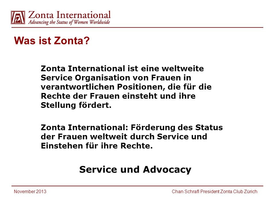 Was ist Zonta.