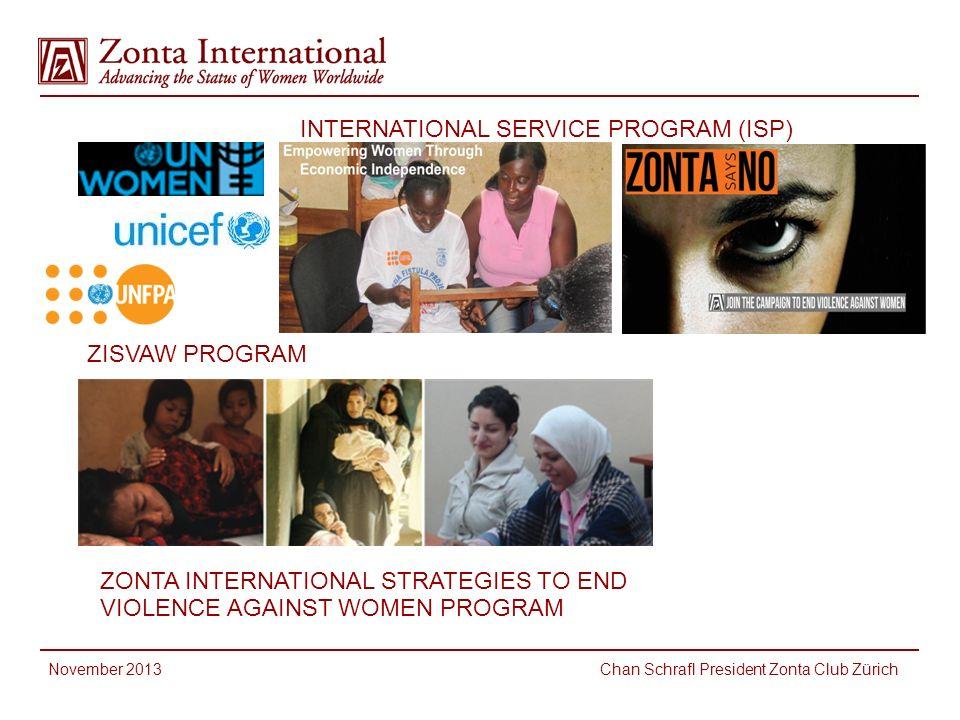 INTERNATIONAL SERVICE PROGRAM (ISP) ZISVAW PROGRAM ZONTA INTERNATIONAL STRATEGIES TO END VIOLENCE AGAINST WOMEN PROGRAM