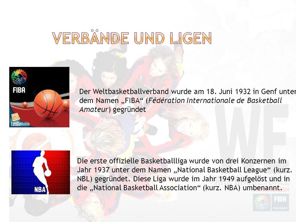 Der Weltbasketballverband wurde am 18. Juni 1932 in Genf unter dem Namen FIBA (Fédération Internationale de Basketball Amateur) gegründet Die erste of