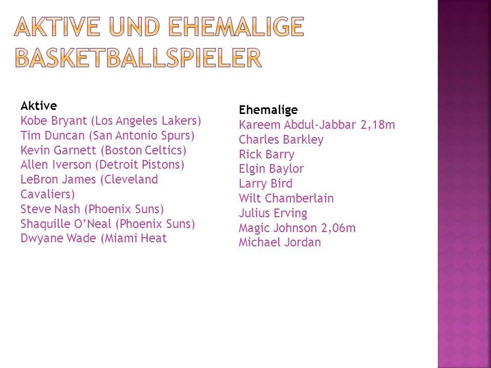Aktive Kobe Bryant (Los Angeles Lakers) Tim Duncan (San Antonio Spurs) Kevin Garnett (Boston Celtics) Allen Iverson (Detroit Pistons) LeBron James (Cl