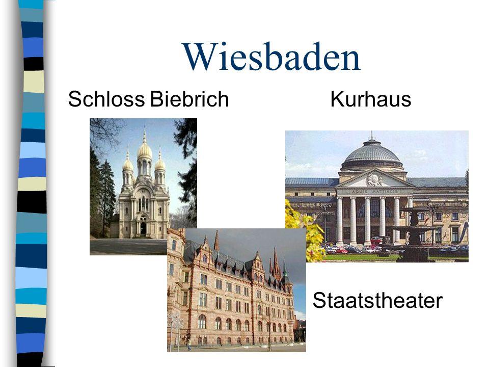 Wiesbaden Schloss Biebrich Kurhaus Staatstheater