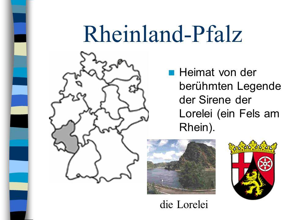 Rheinland-Pfalz Heimat von der berühmten Legende der Sirene der Lorelei (ein Fels am Rhein). die Lorelei