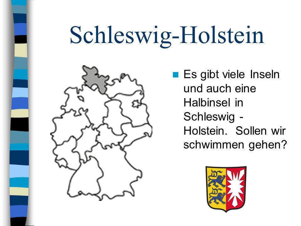 Schleswig-Holstein Es gibt viele Inseln und auch eine Halbinsel in Schleswig - Holstein. Sollen wir schwimmen gehen?