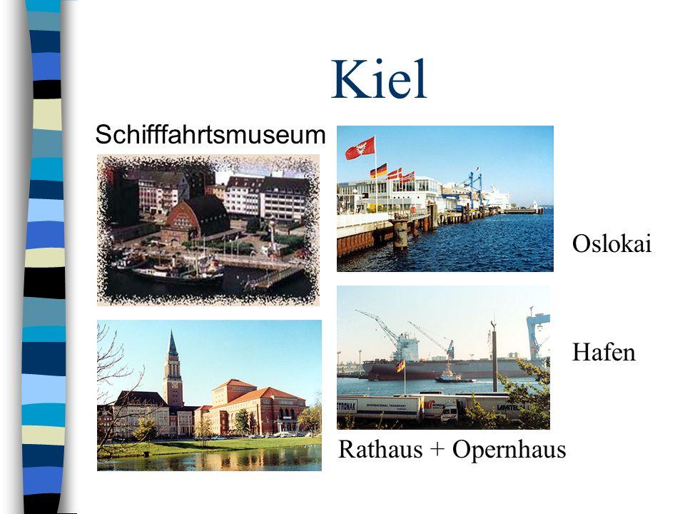 Kiel Schifffahrtsmuseum Rathaus + Opernhaus Hafen Oslokai