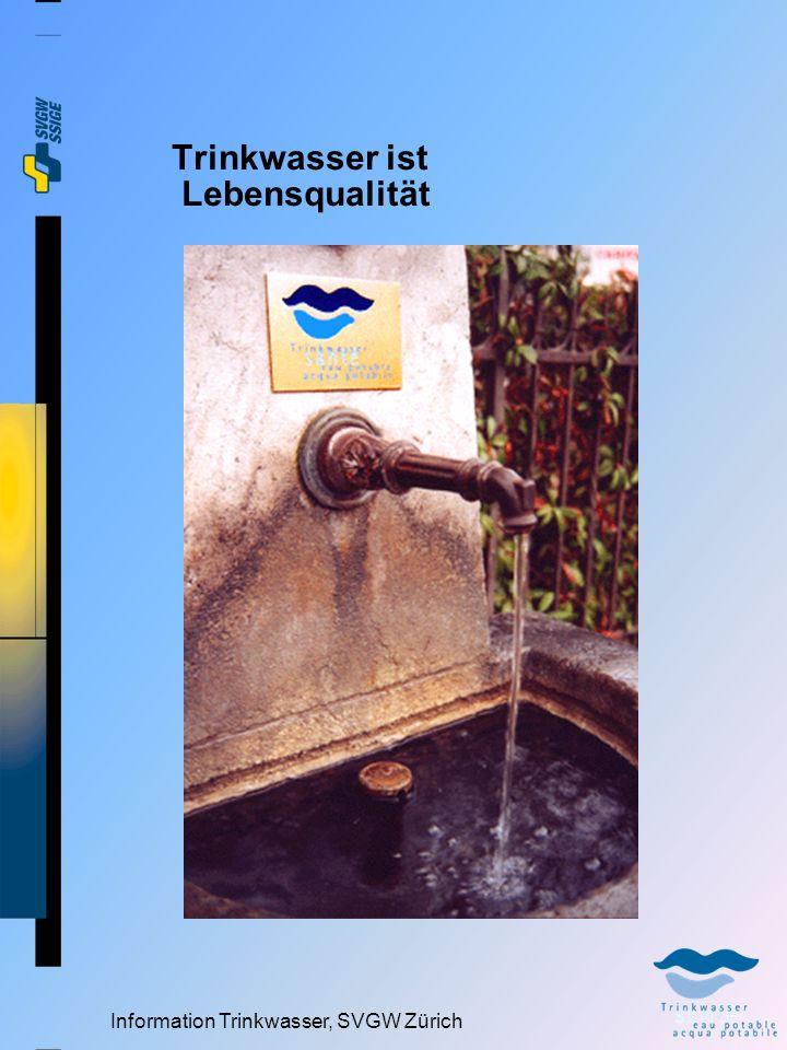 Information Trinkwasser, SVGW Zürich Image von Trinkwasser Trinken Sie Hahnenwasser .