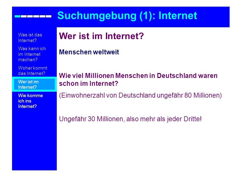 Wer ist im Internet? Menschen weltweit Wie viel Millionen Menschen in Deutschland waren schon im Internet? (Einwohnerzahl von Deutschland ungefähr 80