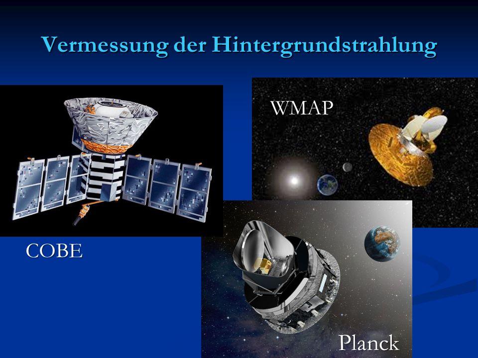 Vermessung der Hintergrundstrahlung COBE Planck WMAP