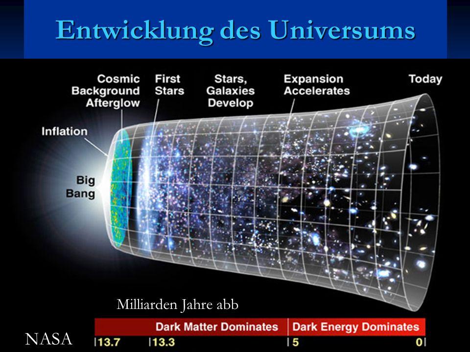 Entwicklung des Universums Milliarden Jahre abb NASA