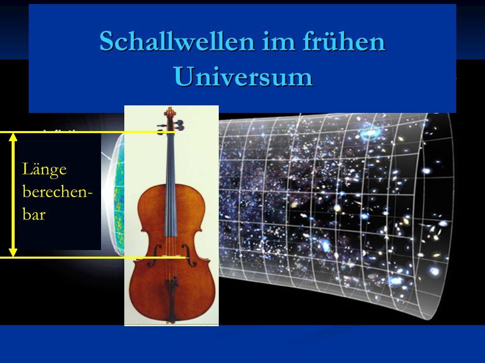 Schallwellen im frühen Universum Längeberechen-bar