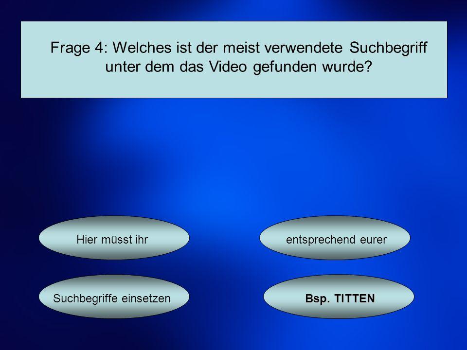 Frage 5: Wie viele Videos gibt es auf youtube.de.ca.