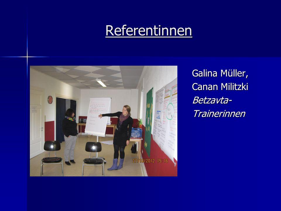 Referentinnen Galina Müller, Canan Militzki Betzavta-Trainerinnen