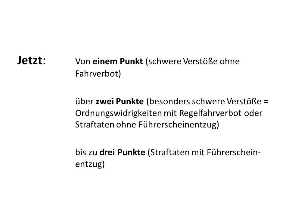 Wie kriege ich Auskunft über meinen Punktestand.1.Reise nach Flensburg, Fördestraße 16.
