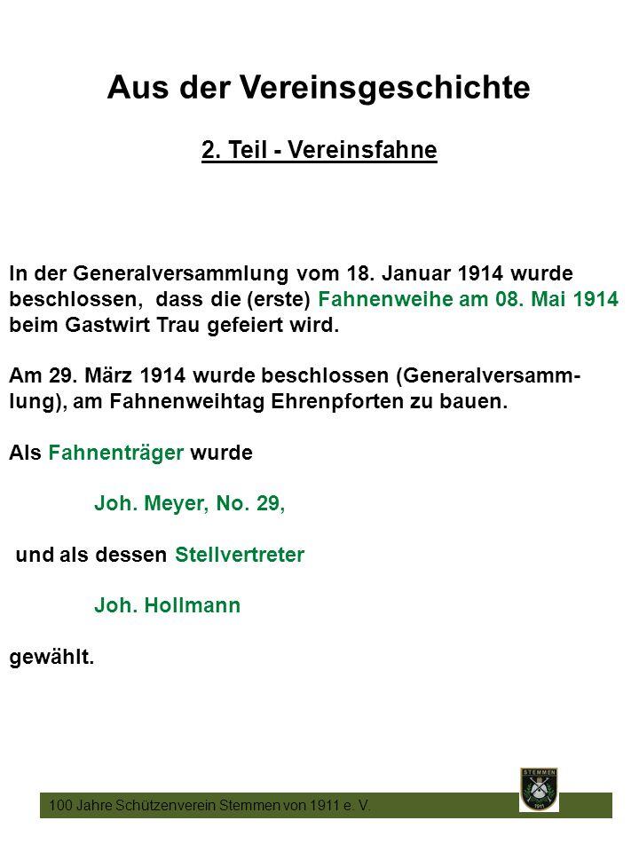 10 100 Jahre Schützenverein Stemmen von 1911 e. V.