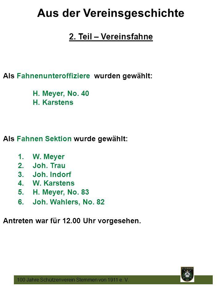 11 100 Jahre Schützenverein Stemmen von 1911 e. V.