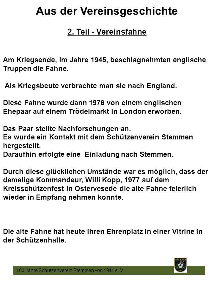 12 100 Jahre Schützenverein Stemmen von 1911 e. V.