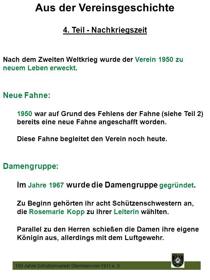 16 100 Jahre Schützenverein Stemmen von 1911 e. V.