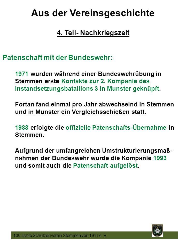 17 100 Jahre Schützenverein Stemmen von 1911 e. V.