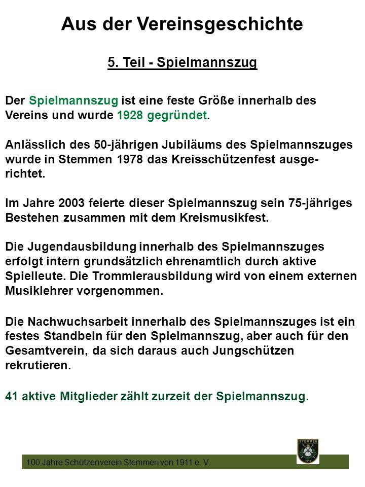 20 100 Jahre Schützenverein Stemmen von 1911 e. V.