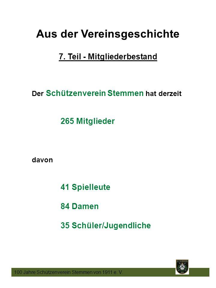 23 100 Jahre Schützenverein Stemmen von 1911 e. V.