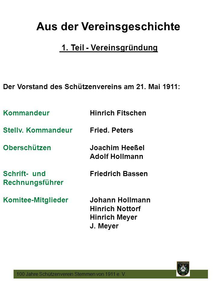 5 100 Jahre Schützenverein Stemmen von 1911 e. V.