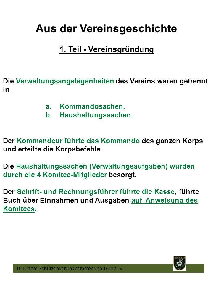 8 100 Jahre Schützenverein Stemmen von 1911 e. V.
