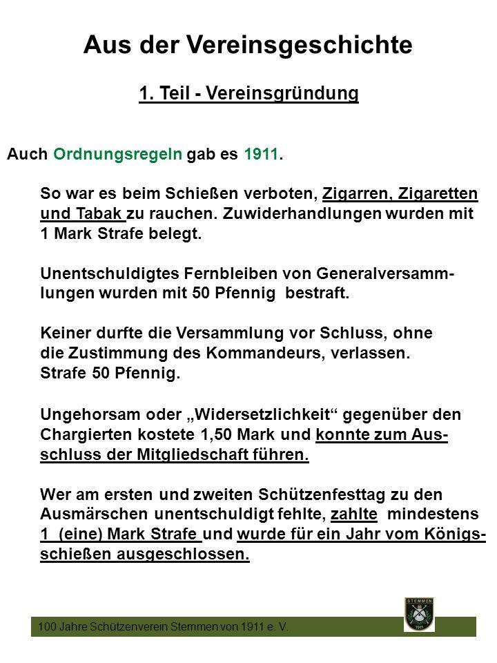 9 100 Jahre Schützenverein Stemmen von 1911 e. V.