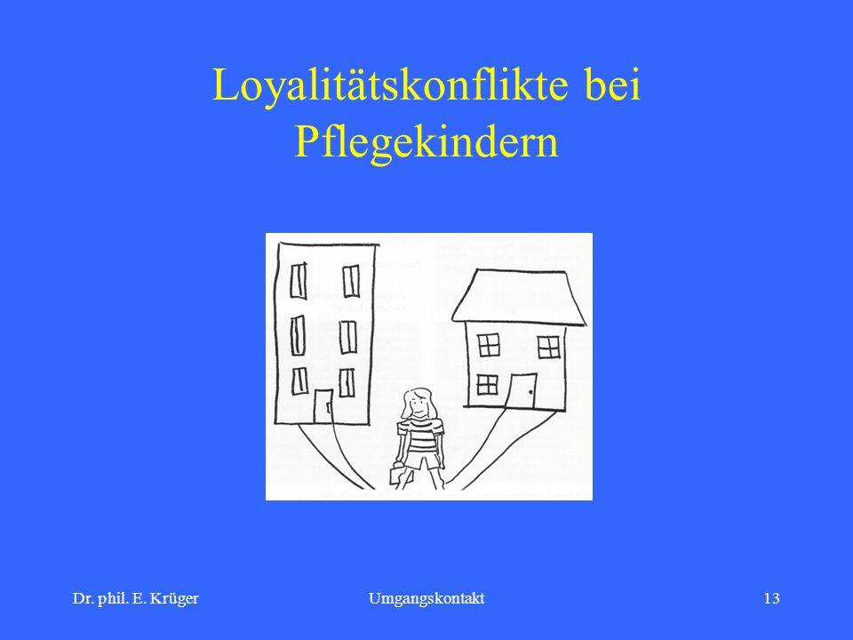 Dr. phil. E. KrügerUmgangskontakt13 Loyalitätskonflikte bei Pflegekindern