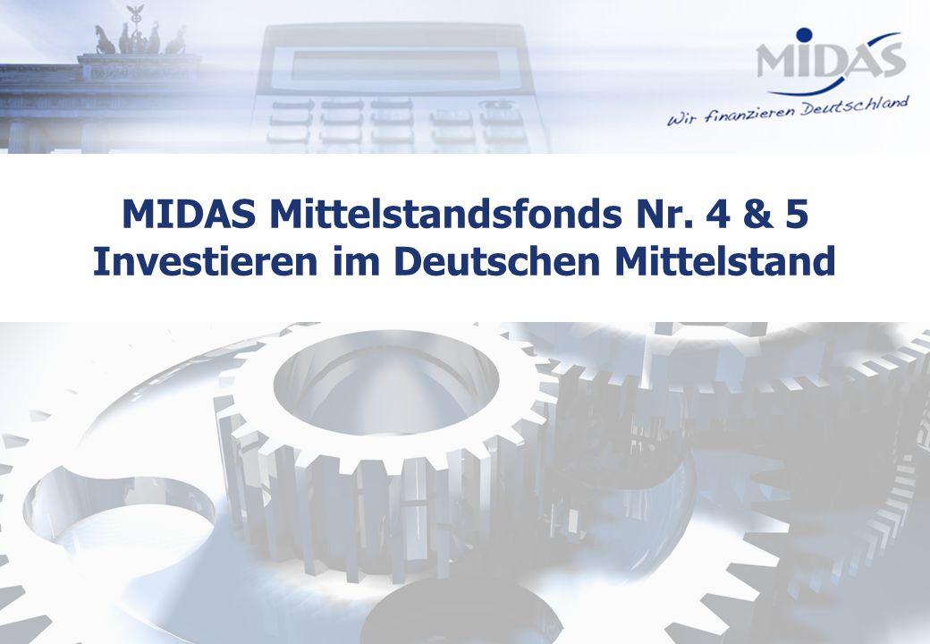 Alle Rechte vorbehalten1 MIDAS Mittelstandsfonds Nr. 4 & 5 Investieren im Deutschen Mittelstand