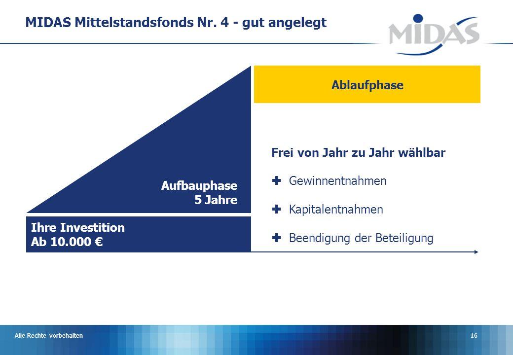 Alle Rechte vorbehalten16 MIDAS Mittelstandsfonds Nr.