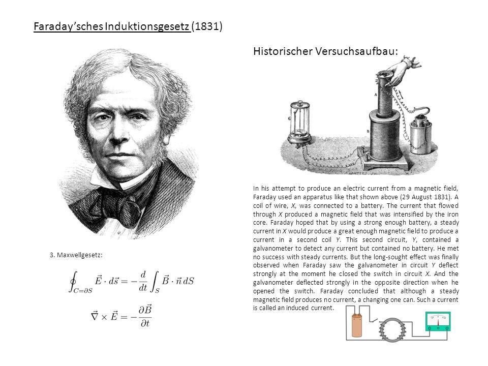 Erweitertes Durchflutungsgesetz (Maxwell-Ampèresches Gesetz) (1826+1861) André-Marie Ampère James Clerk Maxwell 4.