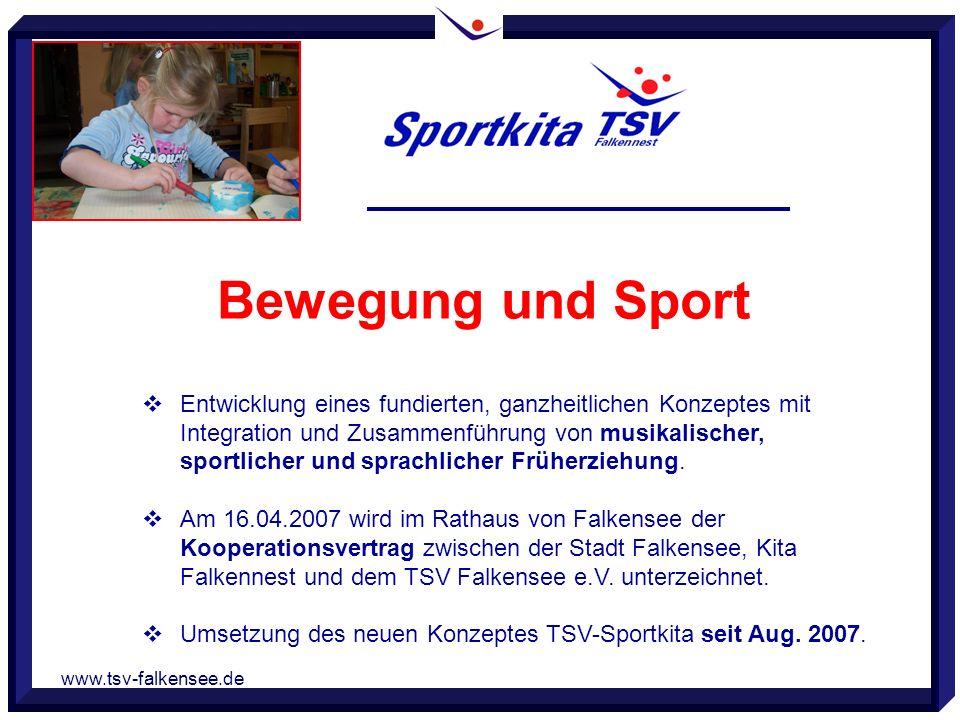 www.tsv-falkensee.de Entwicklung eines fundierten, ganzheitlichen Konzeptes mit Integration und Zusammenführung von musikalischer, sportlicher und spr