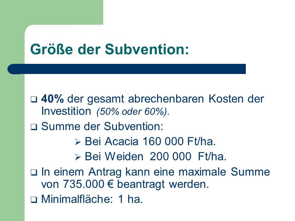 Subvention kann nicht beantragt werden in dem Fall von: Naturschutzgebieten und Standorten, die im Natura 2000 Programm teilnehmen.