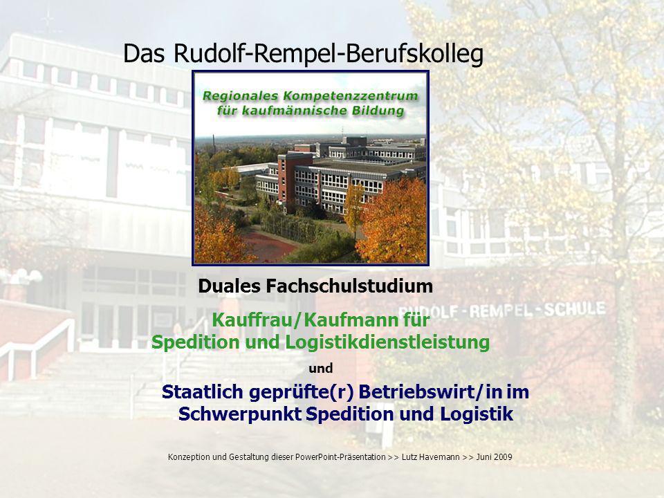 Das Rudolf-Rempel-Berufskolleg Vollzeit-Bildungsgänge Teilzeit-Bildungsgänge Wirtschaftsfachschule