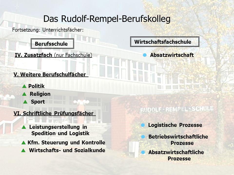 Das Rudolf-Rempel-Berufskolleg Projektarbeit Im dritten Jahr des dualen Studiums erstellen die Studierenden umfangreiche Projektarbeiten in Absprache mit der Schule und den Speditions- und Logistik- untermehmen.