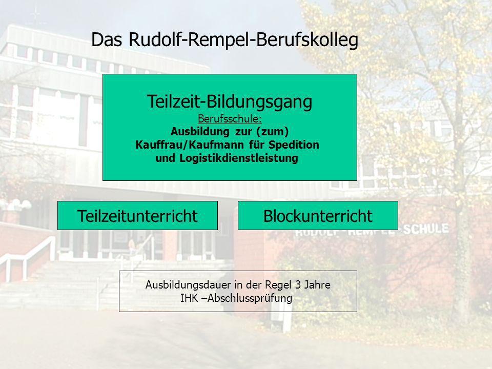 Das Rudolf-Rempel-Berufskolleg Wirtschaftsfachschule Schwerpunkte: Absatzwirtschaft Personalwirtschaft Rechnungswesen/Steuern Management im Gesundheitswesen Duales Fachschulstudium: Schwerpunkt: Spedition und Logistik