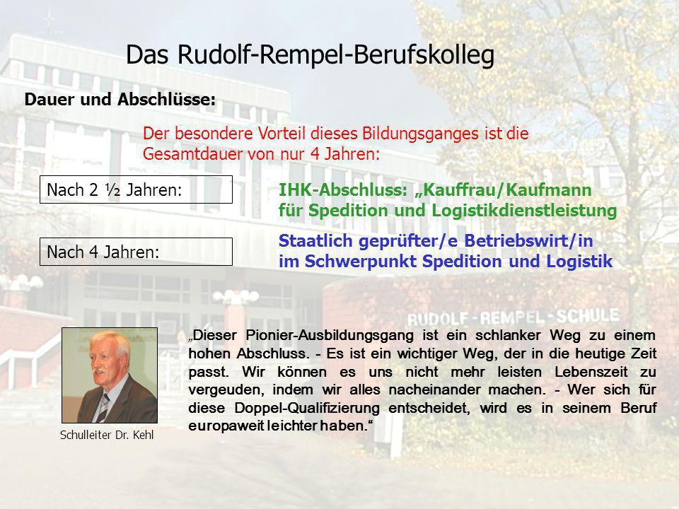 Das Rudolf-Rempel-Berufskolleg Unterrichtsorganisation Berufsschule Teilzeit: Insgesamt 12 Stunden/Woche Block: 3 Monate Wirtschaftsfachschule 7 Stunde/Woche Am Samstag von 7:30 Uhr bis 13:15 Uhr 1.