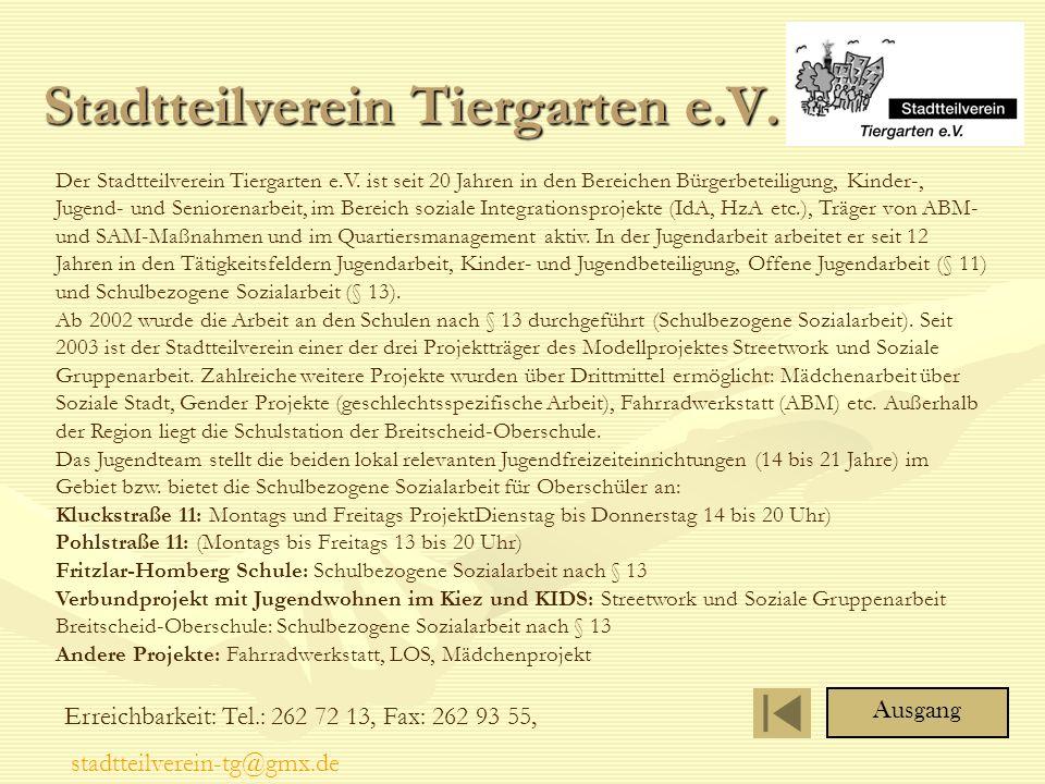 Stadtteilverein Tiergarten e.V.Der Stadtteilverein Tiergarten e.V.