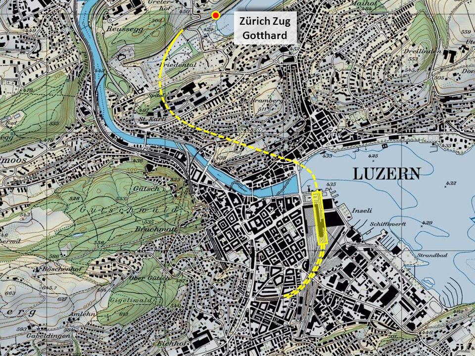 Anschluss der Gleise von Basel, Bern, Sursee, Seetal an die Einfahrt in den Tiefbahnhof