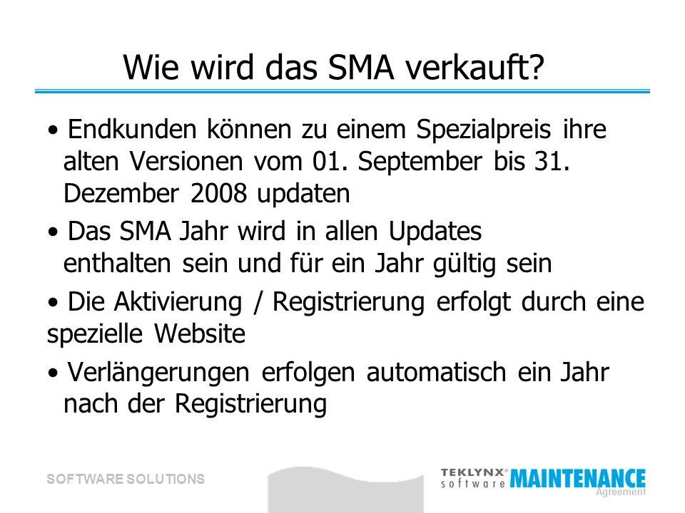 SOFTWARE SOLUTIONS Wie wird das SMA verkauft.