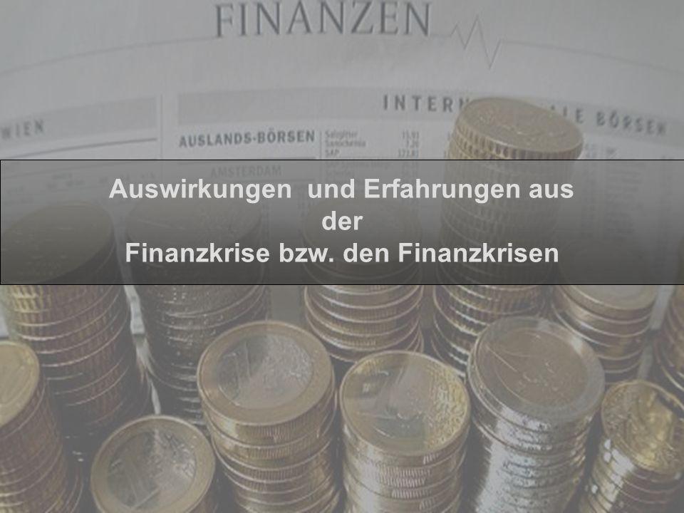 Jürgen Rupp, CFP Auswirkungen und Erfahrungen aus der Finanzkrise bzw. den Finanzkrisen