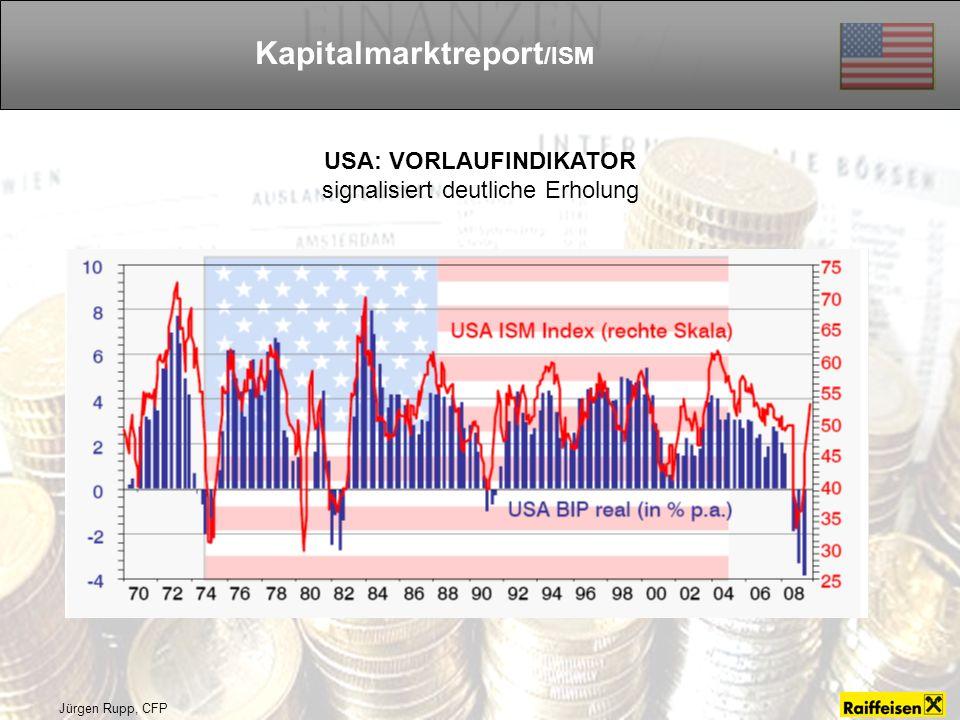 Jürgen Rupp, CFP Kapitalmarktreport /ISM USA: VORLAUFINDIKATOR signalisiert deutliche Erholung