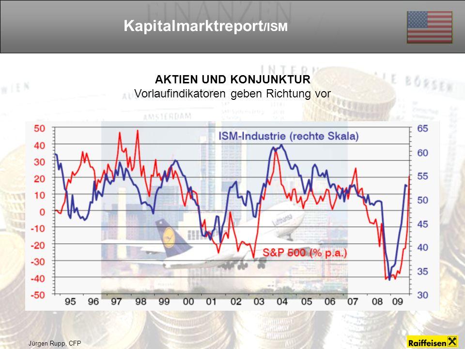 Jürgen Rupp, CFP Kapitalmarktreport /ISM AKTIEN UND KONJUNKTUR Vorlaufindikatoren geben Richtung vor