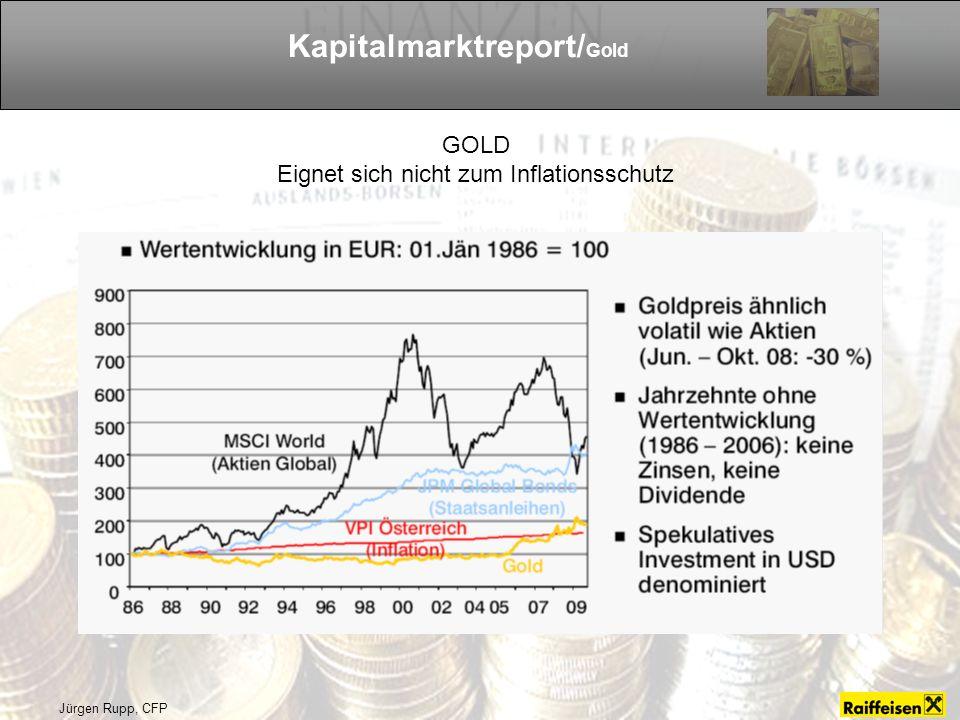 Jürgen Rupp, CFP Kapitalmarktreport/ Gold GOLD Eignet sich nicht zum Inflationsschutz